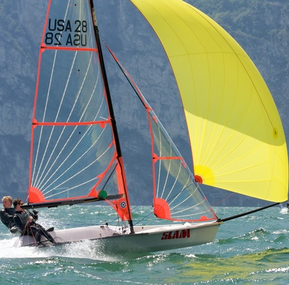 29er Complete Boat including Sails: click to enlarge